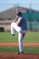 Jason Sargentini (53), from Elk Grove, California, while playing for the Indians during the Under Armour Baseball Factory Recruiting Classic at Red Mountain Baseball Complex on December 28, 2017 in Mesa, Arizona. (Zachary Lucy/Four Seam Images)