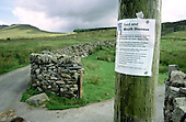 Snowdonia National Park, badly hit by the slump in tourism and sheep farming resulting from the foot and mouth crisis; August 2001.