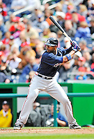2 April 2011: Atlanta Braves outfielder Jason Heyward at bat against the Washington Nationals at Nationals Park in Washington, District of Columbia. The Nationals defeated the Braves 6-3 in the second game of their season opening series. Mandatory Credit: Ed Wolfstein Photo