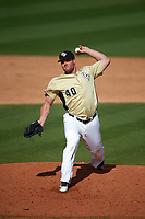 UCF Knights relief pitcher Drew Faintich (40) delivers a pitch during a game against the Siena Saints on February 21, 2016 at Jay Bergman Field in Orlando, Florida.  UCF defeated Siena 11-2.  (Mike Janes/Four Seam Images)