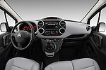 Stock photo of straight dashboard view of 2016 Citroen Berlingo-Furgon Club-M 4 Door Car Van Dashboard
