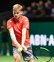 Rotterdam, The Netherlands, 12 Februari 2019, ABNAMRO World Tennis Tournament, Ahoy, first round singles: David Goffin (BEL),<br /> Photo: www.tennisimages.com/Henk Koster