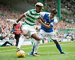 Celtic v St Johnstone …26.08.17… Celtic Park… SPFL<br />Scott Sinclair holds off Aaron Comrie<br />Picture by Graeme Hart.<br />Copyright Perthshire Picture Agency<br />Tel: 01738 623350  Mobile: 07990 594431