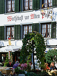 Schweiz, Kanton St. Gallen, St. Gallen: Altstadt - Wirtschaft zur Alten Post | Switzerland, Canton St. Gallen, St. Gallen: Restaurant 'Zur Alten Post' at old town