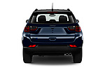 Straight rear view of 2021 JEEP Compass S 5 Door SUV Rear View  stock images