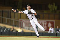 Salt River Rafters infielder Trevor Story (8) during an Arizona Fall League game against the Scottsdale Scorpions on October 7, 2014 at Salt River Fields at Talking Stick in Scottsdale, Arizona.  Scottsdale defeated Salt River 7-4.  (Mike Janes/Four Seam Images)