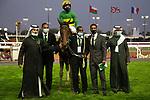 February 19, 2021: MOTAWARIYAH #13 gives jockey Shane Foley a quick fire double taking the lead on International Jockeys Challenge Day, King Abdulaziz Racecourse, Riyadh, Saudi Arabia. Shamela Hanley/Eclipse Sportswire