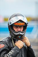 Sep 1, 2018; Clermont, IN, USA; NHRA top fuel nitro Harley Davidson motorcycle rider Rickey House during qualifying for the US Nationals at Lucas Oil Raceway. Mandatory Credit: Mark J. Rebilas-USA TODAY Sports