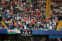 Pictured: Swansea supporters. Saturday 17 September 2011<br /> Re: Premiership football Chelsea FC v Swansea City FC at the Stamford Bridge Stadium, London.