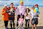 Enjoying a stroll in Banna beach on Sunday, l to r: Alice and Colm Carmody, John O'Gorman, Maeve O'Farrell, Bridget, John and Henry Carmody with Lizzie the dog.