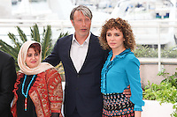 KATAYOON SHAHABI, MADS MIKKELSEN AND VALERIA GOLINO - PHOTOCALL OF THE JURY AT THE 69TH FESTIVAL OF CANNES 2016