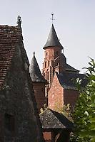 Europe/France/Limousin/19/Corrèze/Collonges-la-Rouge : L'église Saint-Pierre