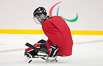 Sochi, RUSSIA - Mar 2 2014 -  Greg Westlake during practice before the 2014 Paralympics in Sochi, Russia.  (Photo: Matthew Murnaghan/Canadian Paralympic Committee)