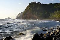 Sunrise, Pololu valley, North Kohala coast, The Big Island of Hawaii