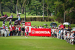 CHON BURI, THAILAND - FEBRUARY 18:  Ai Miyazato of Japan tees off on the 8th hole during day two of the LPGA Thailand at Siam Country Club on February 18, 2011 in Chon Buri, Thailand.  Photo by Victor Fraile / The Power of Sport Images