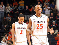 Jan. 2, 2011; Charlottesville, VA, USA; Virginia Cavaliers forward Akil Mitchell (25) smiles after making a basket during the game against the LSU Tigers at the John Paul Jones Arena. Virginia won 64-50. Mandatory Credit: Andrew Shurtleff