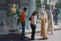 Afrique/Afrique du Nord/Maroc /Casablanca: boutique de modes dans les quartier moderne Maarif