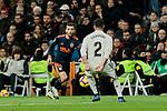Real Madrid's Dani Carvajal and Valencia CF's Jose Gaya during La Liga match between Real Madrid and Valencia CF at Santiago Bernabeu Stadium in Madrid, Spain. December 01, 2018. (ALTERPHOTOS/A. Perez Meca)