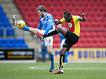 St Johnstone v Partick Thistle…11.02.17     Scottish Cup    McDiarmid Park<br />Murray Davidson and Abdul Osman<br />Picture by Graeme Hart.<br />Copyright Perthshire Picture Agency<br />Tel: 01738 623350  Mobile: 07990 594431
