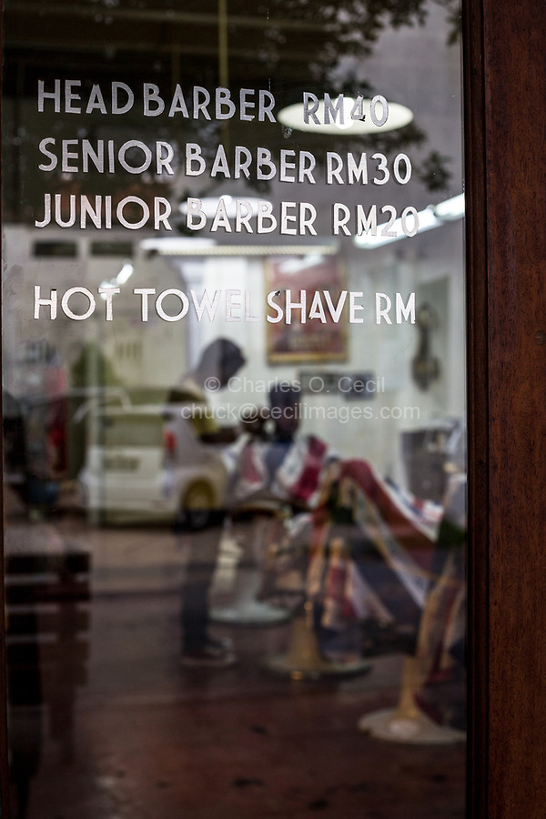 Barber Shop Prices, George Town, Penang, Malaysia