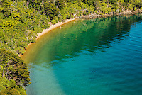 Kayaker in Governors Bay in Marlborough Sounds, Nelson Region, Marlborough, South Island, New Zealand