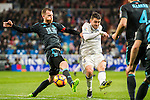Mateo Kovacic (r) of Real Madrid fights for the ball with David Zurutuza Veillet of Real Sociedad during their La Liga match between Real Madrid and Real Sociedad at the Santiago Bernabeu Stadium on 29 January 2017 in Madrid, Spain. Photo by Diego Gonzalez Souto / Power Sport Images