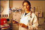 portrait of woman doctor in hospital emergency room