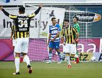 Nederland, Zwolle, 18 oktober 2015<br /> Eredivisie<br /> Seizoen 2015-2016<br /> PEC Zwolle-Vitesse<br /> Valeri Qazaishvili van Vitesse juicht nadat hij een doelpunt heeft gemaakt, 1-3