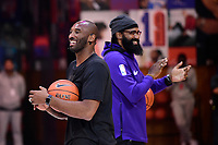21st October 2017; Paris, France; Kobe Bryant, Los Angeles basketball star holds a training camp in Paris for kids;  Kobe Bryant and Ronny Turiaf