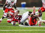 Southern Methodist Mustangs wide receiver Darius Johnson (3) in action during the game between the University of Houston Cougars and the Southern Methodist Mustangs at the Gerald J. Ford Stadium in Dallas, Texas. SMU defeats Houston 72 to 42....