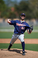 Minnesota Twins Max Cordy (62) during a minor league Spring Training intrasquad game on March 15, 2016 at CenturyLink Sports Complex in Fort Myers, Florida.  (Mike Janes/Four Seam Images)