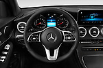 Car pictures of steering wheel view of a 2020 Mercedes Benz GLC-Class GLC300 5 Door SUV Steering Wheel
