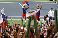 Tenis, Davis Cup 2010.Serbia Vs. Czech Republic, semifinals.Nenad Zimonjic and Novak Djokovic Vs. Tomas Berdych and Radek Stepanek.Tomas Berdych and Radek Stepanek, celebrate win.Beograd, 18.09.2010..foto: Srdjan Stevanovic/Starsportphoto ©