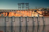 The Glen Canyon Dam creates Lake Powell and the Glen Canyon Recreation Area, Page, Arizona.