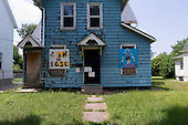 Cleveland, Ohio.July 20, 2011..Abandoned and foreclosed homes in Slavic Village a community that was severely hit by the mortgage crisis which effected the global economy.