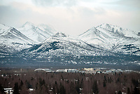 The UAA Campus and U-Med district seen from the Fireweed Business Center in midown Anchorage.