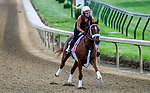 April 28, 2021: Pass the Champagne, trained by trainer George Weaver, exercises in preparation for the Kentucky Oaks at Churchill Downs at Churchill Downs on April 29, 2021 in Louisville, Kentucky. John Voorhees/Eclipse Sportswire/CSM
