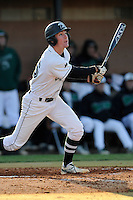 Third baseman Daniel Fickas (26) of the University of South Carolina Upstate Spartans in a game against the UNC Asheville Bulldogs on Tuesday, March, 25, 2014, at Cleveland S. Harley Park in Spartanburg, South Carolina. (Tom Priddy/Four Seam Images)