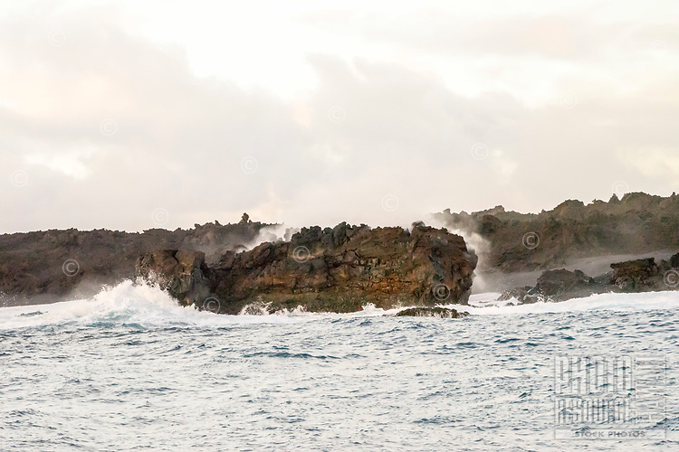 August 2018: Small island that formed off the Kapoho coastline in Puna on the Big Island during the last of the 35-year-old Kilauea eruption. The Hawaiian Volcano observatory estimated that the island is about 20 to 30 feet in diameter and just a few meters offshore.