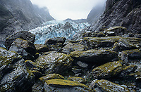 Access of Franz Josef Glacier in 2005, Westland Tai Poutini National Park, UNESCO World Heritage Area, West Coast, New Zealand, NZ