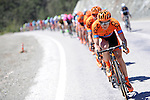 CCC Sprandi Polkowice team on the front of the peloton during Stage 5 of the 2015 Presidential Tour of Turkey running 159.9km from Mugla to Pamukkale. 30th April 2015.<br /> Photo: Tour of Turkey/Mario Stiehl/www.newsfile.ie