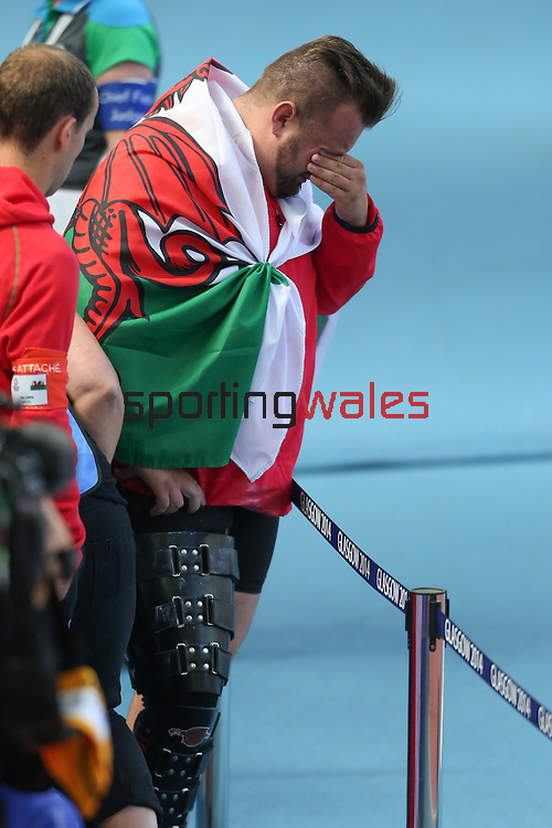 Glasgow 2014 Commonwealth Games<br /> An emotional Aled Davies after winning silver in the Men's Para-Sport Discus Throw.<br /> Hampden Park<br /> 28.07.14<br /> ©Steve Pope-SPORTINGWALES