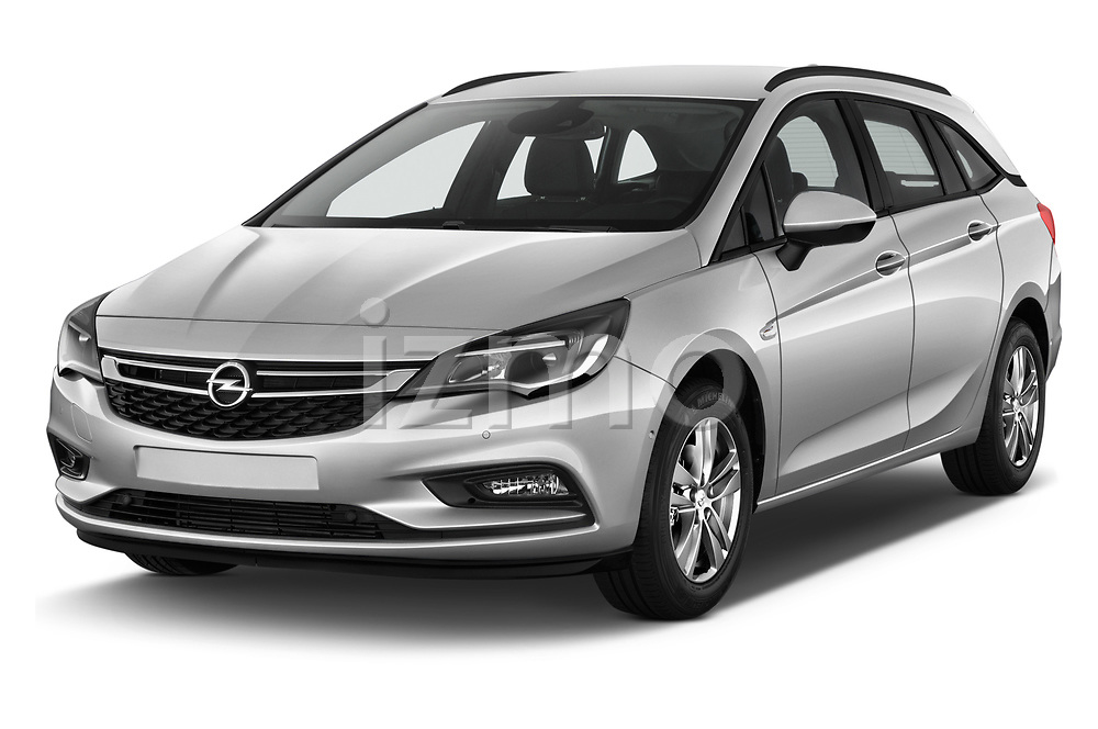 2017 Opel Astra Sports Tourer Edition 5 Door Wagon angular front stock photos of front three quarter view