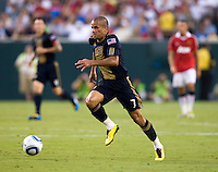 Fred. Manchester United defeated Philadelphia Union, 1-0.