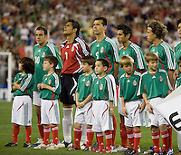 Mexico team during the team presentations. USA 2, Mexico 0, at the University of Phoenix Stadium in Glendale, AZ on February 7, 2007.