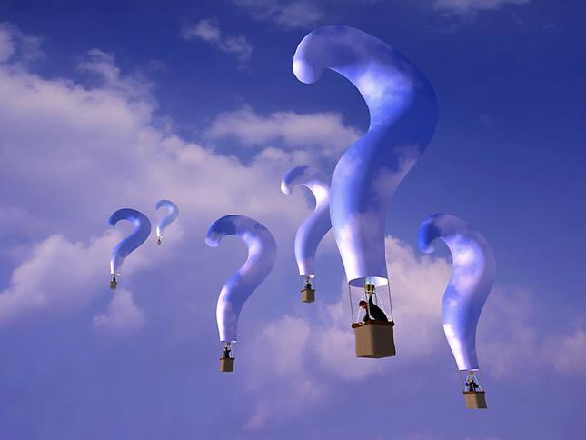 Question mark balloons