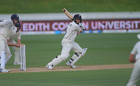 NZ's Ross Taylor bats during day four of the international cricket 2nd test match between NZ Black Caps and England at Seddon Park in Hamilton, New Zealand on Friday, 22 November 2019. Photo: Dave Lintott / lintottphoto.co.nz