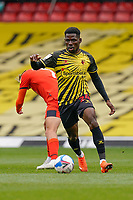 Tom Dele-Bashiru (24) of Watford during the Sky Bet Championship match between Watford and Luton Town at Vicarage Road, Watford, England on 26 September 2020. Photo by David Horn.