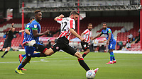 Danish International, Henrik Dalsgaard of Brentford bursts into the Wigan penalty area during Brentford vs Wigan Athletic, Sky Bet EFL Championship Football at Griffin Park on 4th July 2020