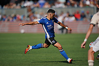 SAN JOSE, CA - AUGUST 8: Cristian Espinoza #10 of the San Jose Earthquakes during a game between Los Angeles FC and San Jose Earthquakes at PayPal Park on August 8, 2021 in San Jose, California.